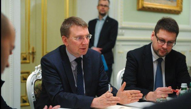 Глава МЗС Латвії: Наше завдання -  зберігати Україну на порядку денному ЄС