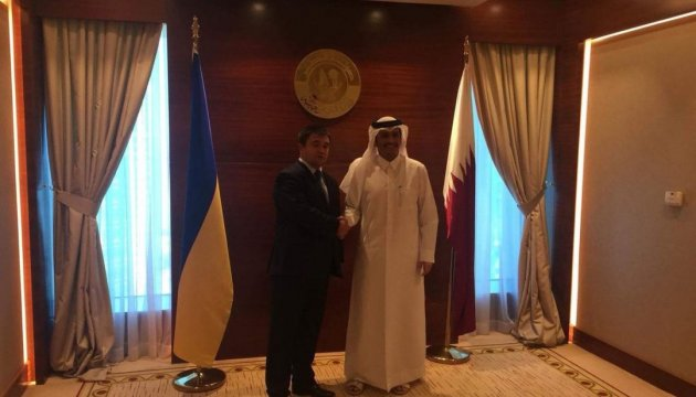 Ukrainian foreign minister meets with Qatari colleague