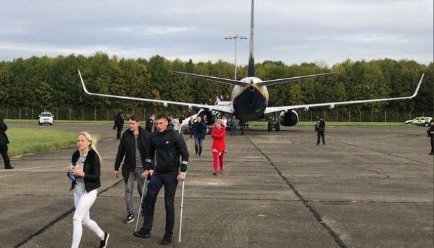 Британські винищувачі супроводжували пасажирський Ryanair до аеропорту
