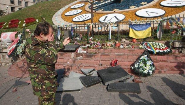 Akt des Vandalismus: Mann zerstört Denkmal für Maidan-Opfer