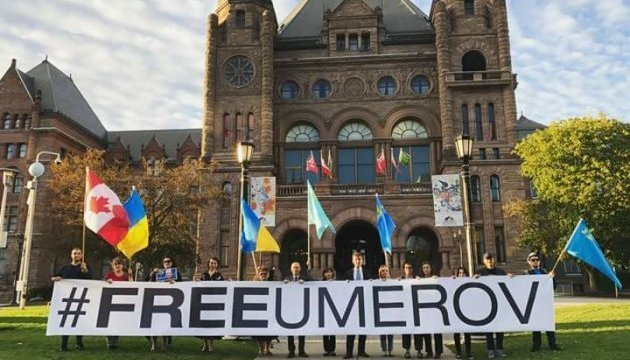 Rally in support of Ilmi Umerov held in Toronto. Photos
