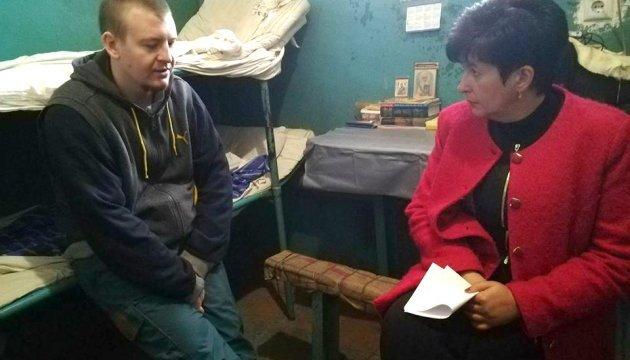Лутковская встретилась с пленным российским военным Агеевым