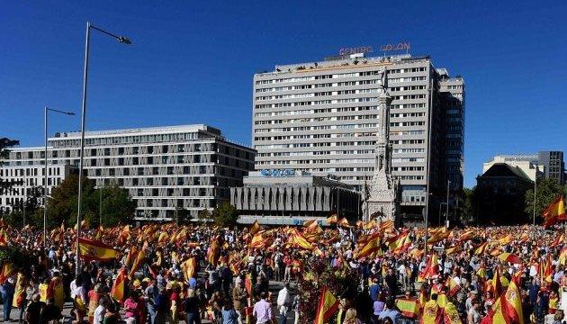 В Іспанії десятки тисяч людей вийшли на мітинги