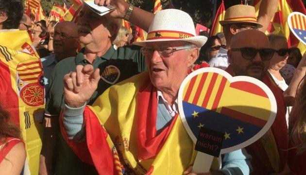 У центрі Барселони мітингують за єдність Іспанії