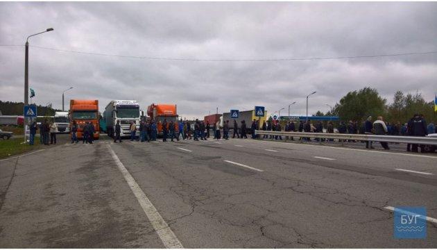 Нововолинські шахтарі заблокували рух до Польщі через КПП «Ягодин»