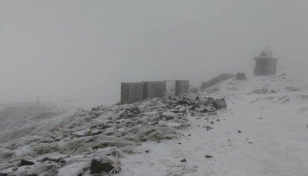 Карпатську гору Піп Іван засипало снігом