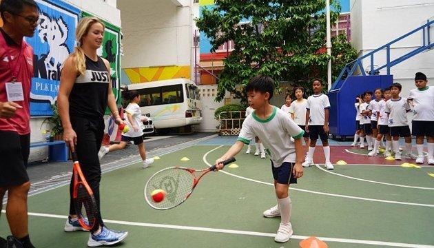 Теніс: Еліна Світоліна дала майстер-клас дітям Гонконгу