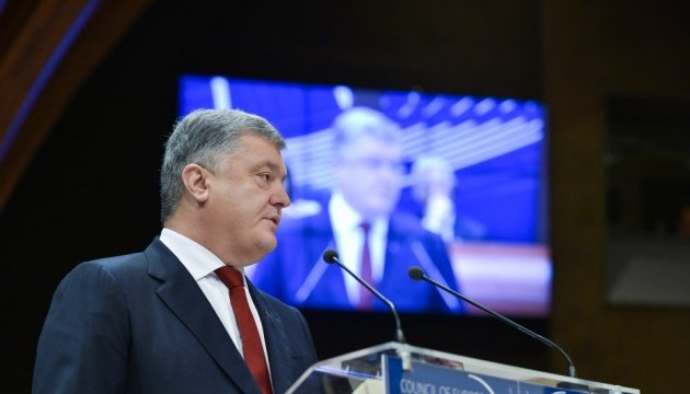 President mentions Sushchenko, other political prisoners at PACE session