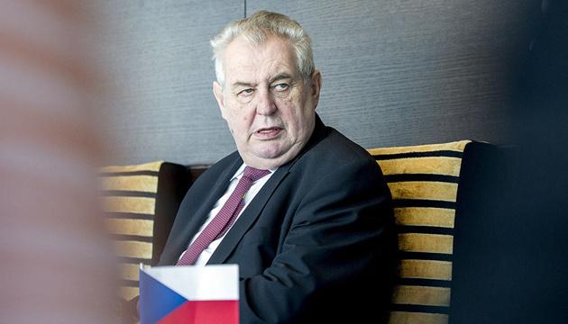 Чеський Сенат розгляне відсторонення Земана з посади президента