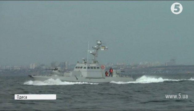 Der Test der vier ukrainischen Artillerieboote