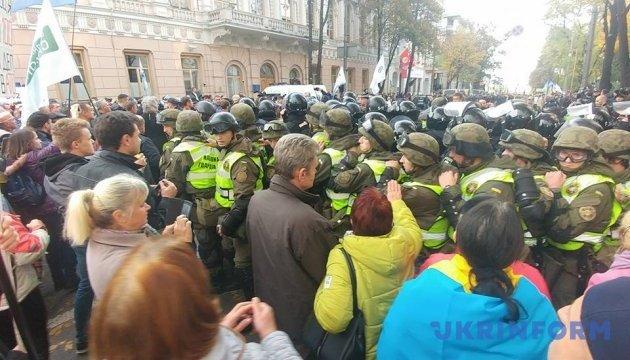 В результате столкновения под Радой задержали 11 человек - полиция
