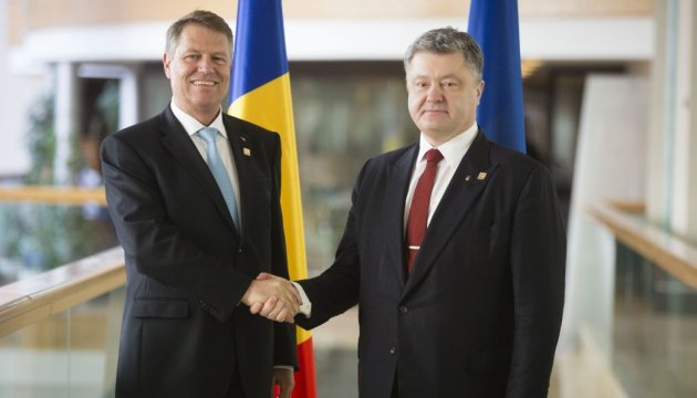 Poroshenko discusses with Romanian president Ukraine's law on education