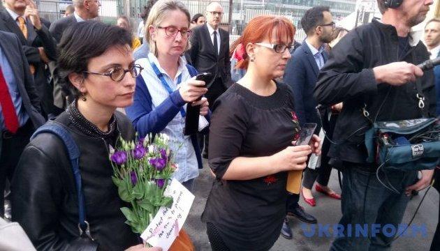 У Брюсселі вшанували пам'ять загиблої мальтійської журналістки