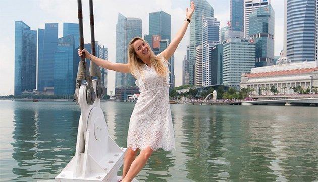 Теннис: Элина Свитолина провела фотосессию в Сингапуре