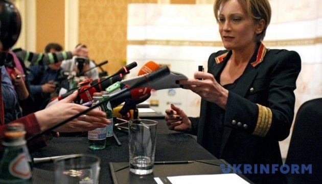 Патрисия Каас в Киеве купила вышиванку