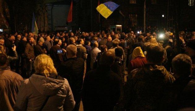 Участники акции протеста под Радой озвучили новые требования