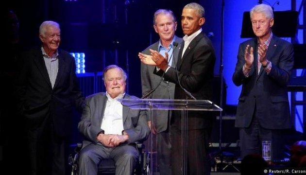 П'ятеро екс-президентів США зібрали $31 мільйон для жертв ураганів