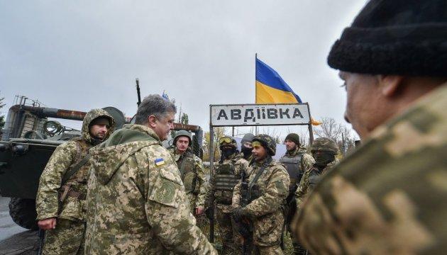 Порошенко – украинским воинам: Вы является гарантом независимости государства