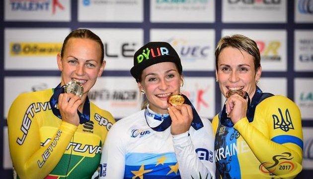 Украинцы завоевали четыре медали на Евро-2017 по велотреку