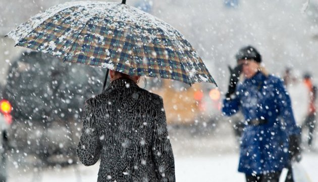 Snowy rain expected in Ukraine on Monday
