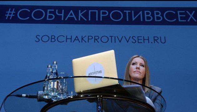 У Петербурзі волонтерів штабу Собчак затримали за напис на льоду