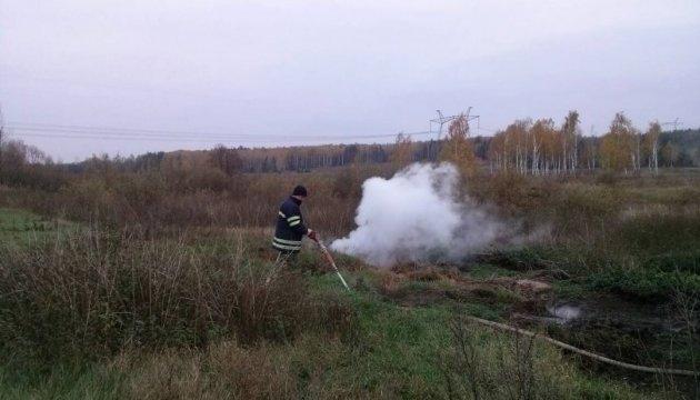 На Київщині загорівся торф