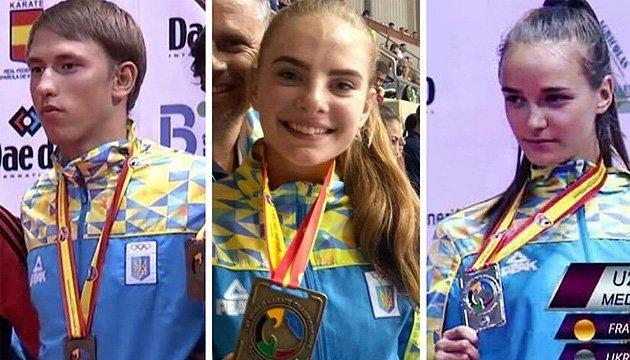 Сборная Украины завоевала три награды на молодежном первенстве мира по каратэ