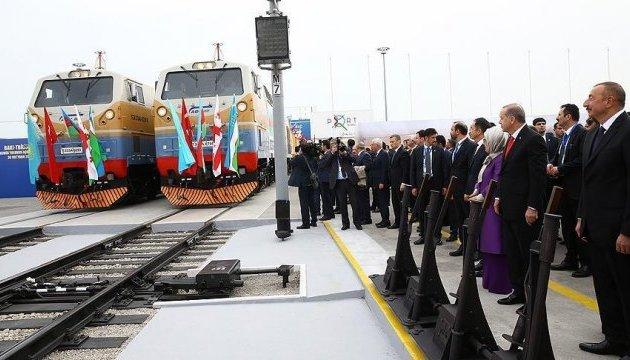 Главы Азербайджана, Турции и Грузии запустили железную дорогу в обход России