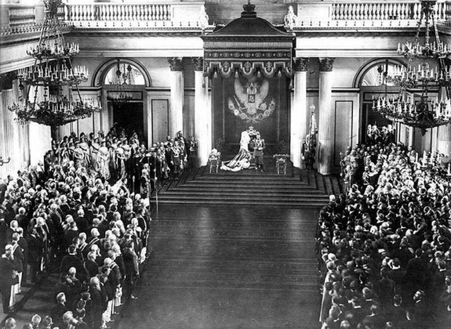 Імператор Микола II виступає з Маніфестом про створення Державної Думи