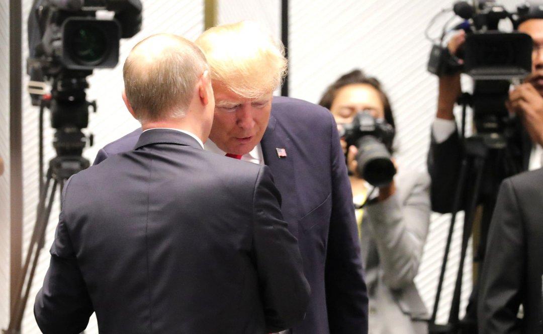 Президент США Дональд Трамп і президент РФ Володимир Путін