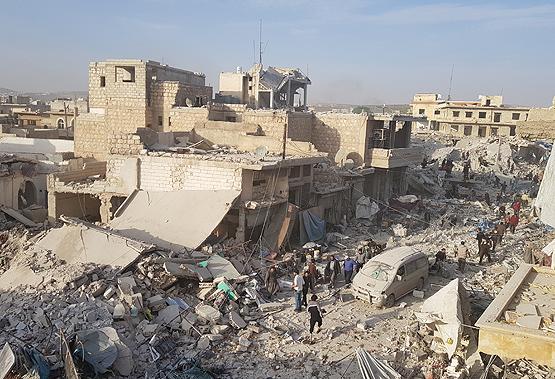 ВСирии в итоге авиаударов погибли 53 мирных жителя