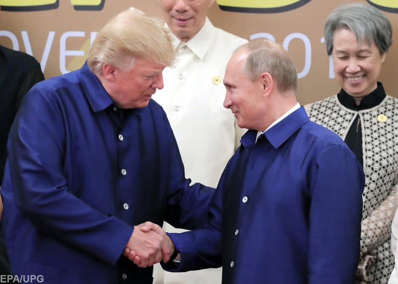 Коротка зустріч Дональда Трампа з Володимиром Путіним у В'єтнамі