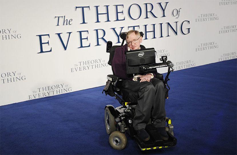 Стівен Гокінг, англійський фізик-теоретик, відомий своїми дослідженнями в астрофізиці, зокрема теорії чорних дір, популяризатор наукових знань