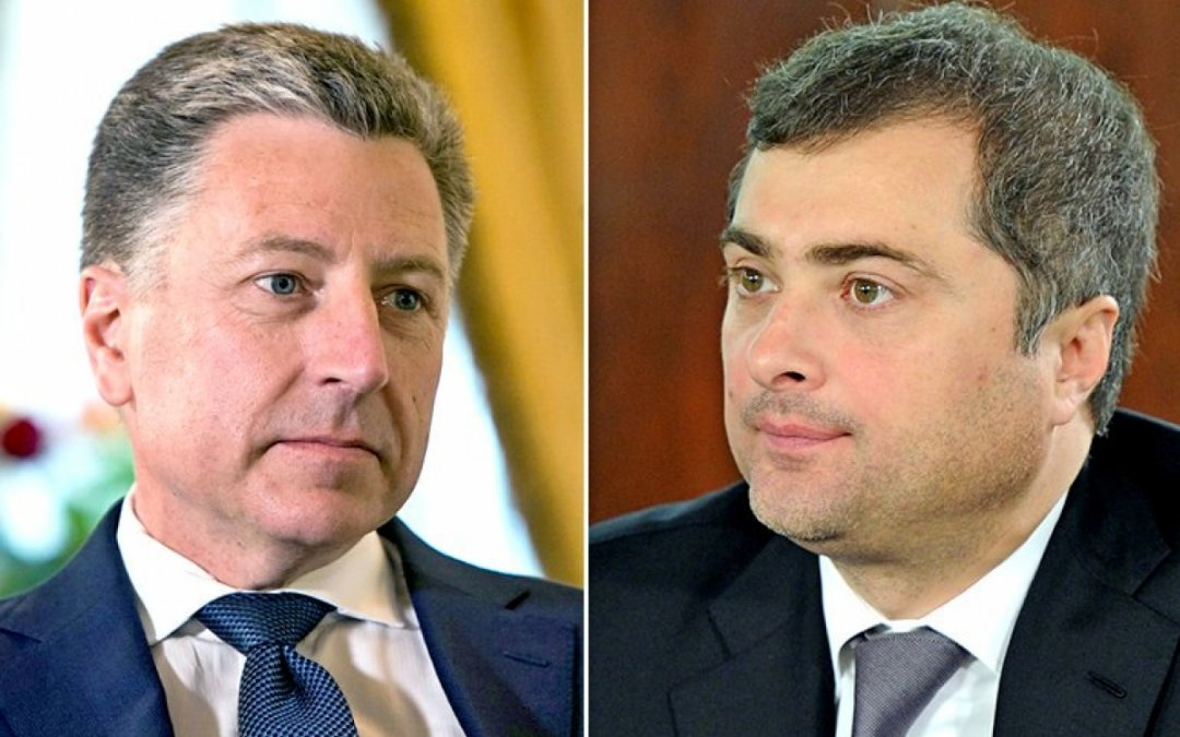 Спеціальний представник США по Україні Курт Волкер і радник президента Росії Владислав Сурков