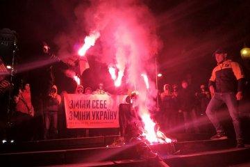 Les militants ont brûlé un épouvantail Lénine à Kyiv (photos)