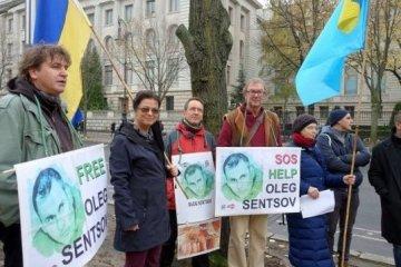 Le PEN Club d'Allemagne a tenu une manifestation de soutien à Sentsov et à Souchtchenko (photos)