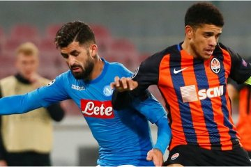 Shakhtar loses to Napoli in Champions League