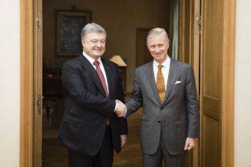 Le président Petro Porochenko a rencontré Sa Majesté le Roi des Belges