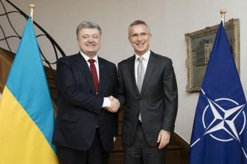 """Poroschenko dankt Stoltenberg für """"offene Türen der Nato"""""""