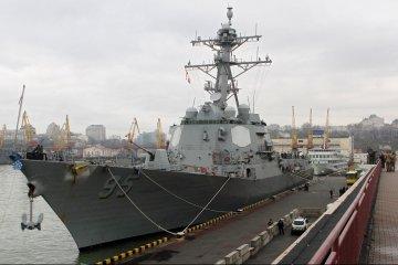 Destructor de la marina de los EEUU atraca en Odesa (Fotos)