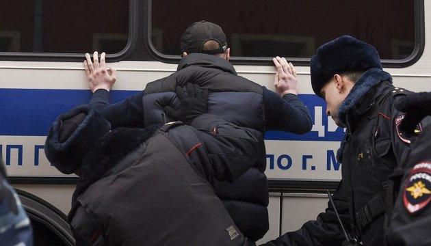 Протести в РФ: більше сотні затриманих ночують у поліції