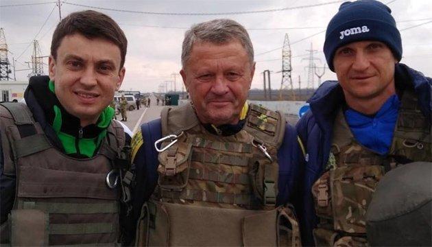 Футбол: Маркевич, Єзерський і Циганик відвідали військових в зоні АТО