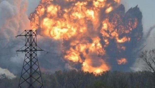 СЦКК: под Донецком произошел мощный взрыв на складе с боеприпасами боевиков