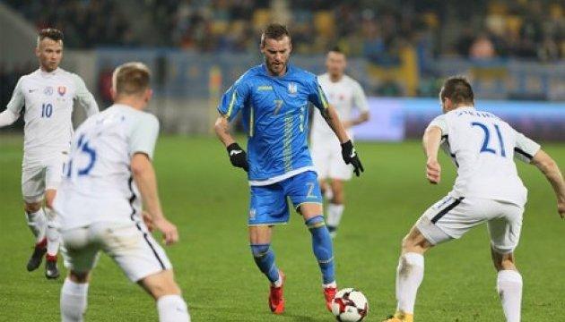 Україна обіграла Словаччину у товариському матчі