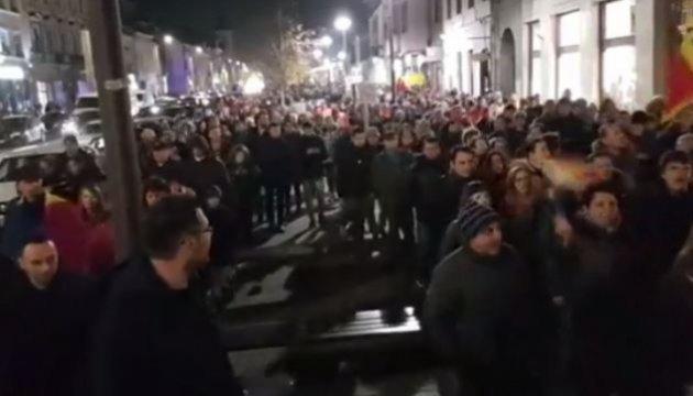 Румуни мітингують проти податкової реформи
