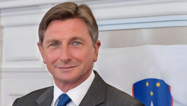 Präsident Sloweniens besucht die Ukraine