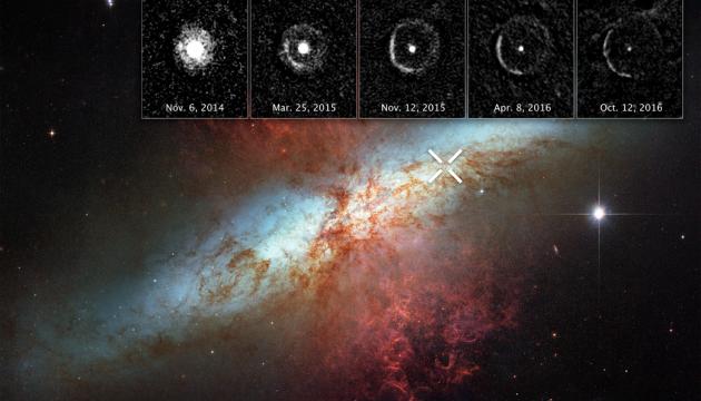 Hubble снял ближайший к Солнцу взрыв сверхновой звезды