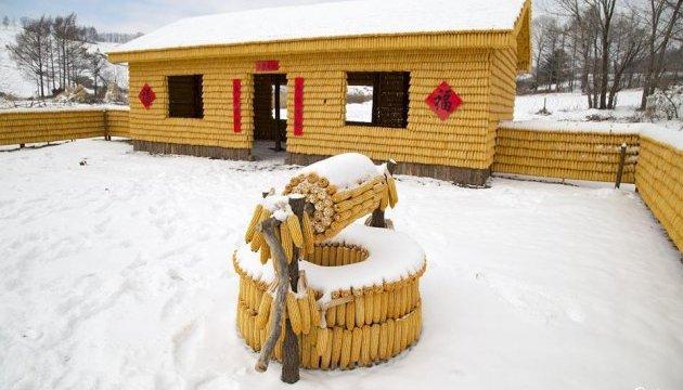 В Китае построили кукурузный дом