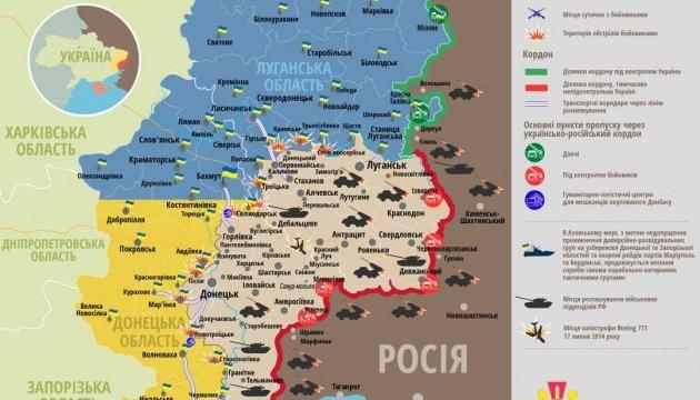 Бойовики двічі обстріляли зі 120-мм мінометів сили АТО під Новотошківським