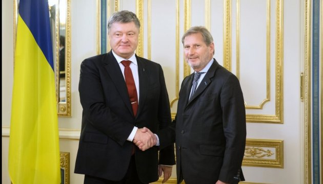 Hahn says EU ready to continue helping Ukraine implement reforms